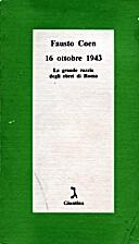 16 ottobre 1943: La grande razzia degli…