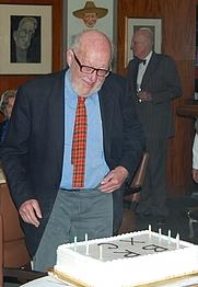 Author photo. Bernard M. Rosenthal on his 90th Birthday [credit: ILAB]