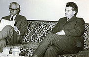 Author photo. Wikipedia, Nicolae Ceauşescu receives American journalist C. Sulzberger on a visit to Romania (Foto by Romanian Communism Online Photo Collection under the digital ID 34626X2X3)