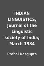 INDIAN LINGUISTICS, Journal of the…