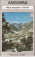 Andorra mapa topogràfic 1:50000 by Govern…