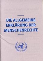 Allgemeine Erklärung der Menschenrechte -…