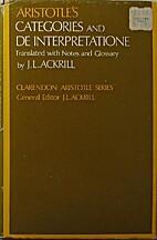 Categories and De Interpretatione by J. L.…