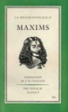 Maxims by François, duc de La Rochefoucauld