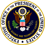 Author photo. Seal of the United States Executive Office of the President