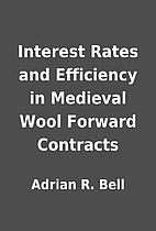Interest Rates and Efficiency in Medieval…