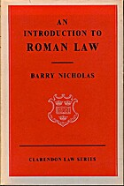 Introduction to Roman Law (Clarendon Law) by…