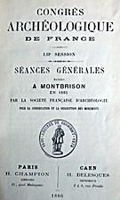 France: 1886, 53e Congrès archéologique de…