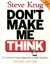 book cover: Don't Make Me Think.