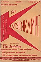 Der Klassenkampf. 6. Jahrgang. Nummer 3. 1.…