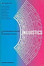 Linguistics 19 (1981) 5/6: 389-553