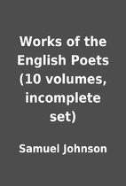 Works of the English Poets (10 volumes,…