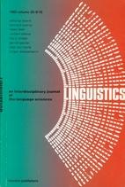Linguistics 20 (1982) 9/10: 587-680