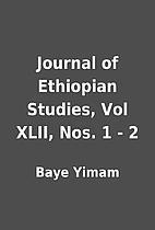 Journal of Ethiopian Studies, Vol XLII, Nos.…