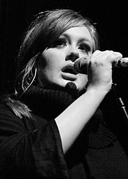 Author photo. Adele on a concert in January 2009