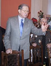Author photo. Juri Averbakh celebrating his 80th birthday