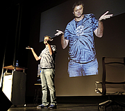 """Author photo. """"Paul Hoffman presenting at Cusp Conference 2009"""" - Greg Edwards"""