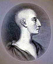 Author photo. Ambrose Philips, anonymous 18th century engraving [source: Wikimedia Commons]