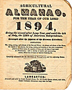 Agricultural Almanac for the year 1894 by…