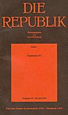 Die Republik (Nummer 27 / 30. Juli 1978)