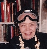 Author photo. Francelia Butler, Halloween 1990, Mansfield Hollow, Conn.