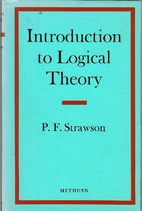 Introduction to Logical Theory by P. F.…