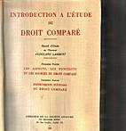 Introduction a l'étude du droit comparé :…