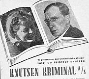 Author photo. Lalli and Fridtjof Knutsen<br>(Advertisement)