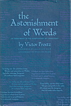 The Astonishment of Words. An Experiment in…