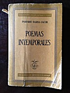Poemas Intemporales by Porfirio Barba Jacob