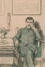 Author photo. From &quot;Revue illustrée&quot;, 1887<br>Courtesy of the <a href=&quot;http://digitalgallery.nypl.org/nypldigital/id?1123447&quot;>NYPL Digital Gallery</a><br>(image use requires permission from the New York Public Library)
