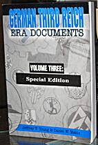 German Third Reich Era Documents Volume…