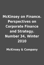 McKinsey on Finance. Perspectives on…