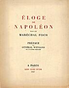 Eloge de Napoléon by Maréchal Ferdinand…