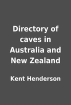 Directory of caves in Australia and New…
