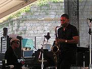 Author photo. Ravi Coltrane, on right. Lee Paxton, 2005.