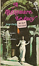 A Nightmare Legacy by Jane Corby