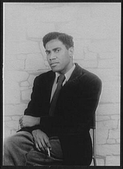 Author photo. George Lamming, 1955. Photo by Carl Van Vechten. (Library of Congress Prints and Photographs Division LC-USZ62-114409)