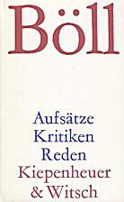 Aufsätze, Kritiken, Reden by Heinrich Böll