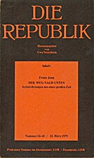 Die Republik (Nummer 34-40 / 22. März 1979)