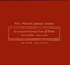 Seventeenth-century verse and prose, Volume…