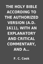 THE HOLY BIBLE ACCORDING TO THE AUTHORIZED…