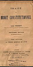 Traité de droit constitutionnel. Tome…