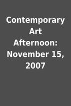 Contemporary Art Afternoon: November 15,…