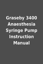 Graseby 3400 Anaesthesia Syringe Pump…