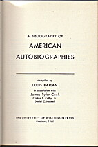 A bibliography of American autobiographies…