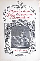 Hofurmakare Jean Fredmans äktenskap by Mila…