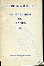 Les Entretiens de Saanen, Suisse, en 1964 by…