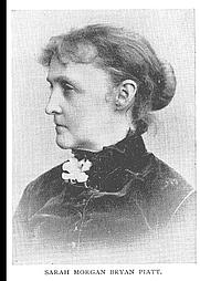 Author photo. Sarah Morgan Bryan Piatt (b.1836), Buffalo Electrotype and Engraving Co., Buffalo, N.Y.