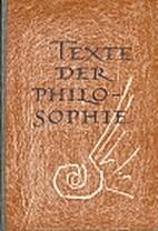 Texte der Philosophie